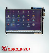 ODROID-VU7 : 7inch HDMI display with Multi-touch
