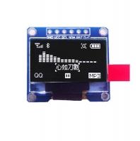 ماژول نمایشگر OLED سفید 6 پین 0.96اینچ با رابط SPI سایز 128x64