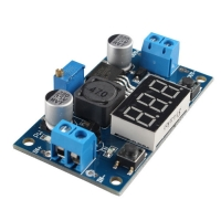 LM2577 Step-Up Module with 7-Segmnet Voltmeter