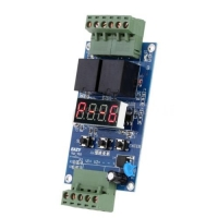12V Programmable Relay Control Board Cycle Delay Timing Clock Switch Module