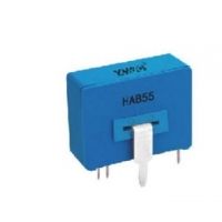 HAB55 hall closed loop current sensor, input 50/100A output 50mA DC 150kHz, PCB mounted