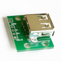 PCB+USB female sockect with welding