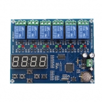 XH-M194 time relay control module multi-channel timing module 5 relay time Dashboard