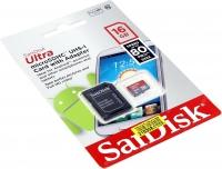 حافظه رم میکرو  SanDisk Ultra 16GB -80 مدل SDSQUNS-016G-GN3MA
