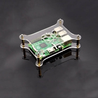 Single layer Transparent Acrylic Case Clear Shell Enclosure with Logo for Raspberry Pi