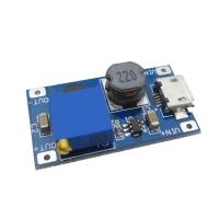 ماژول DC/DC افزاینده ولتاژ کوچک قابل تنظیم ولتاژ خروجی با امکان تغذیه از MicroUSB