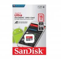 حافظه رم میکرو  SanDisk Ultra 16GB -98 مدل SDSQUAR-016G-GN6MA