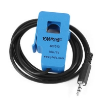 SCT-013-010 Black 3.5mm Output Cord Non-invasive AC Current Sensor Blue 10A 1V