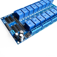 16 relay module 5V 12V control board with optocoupler protection with the LM2596 power