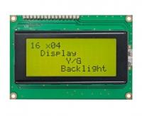 نمایشگر گرافیکی Winstar زرد/سبز 4*16 مدل WH1604A-YYH-ET