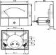 میکرو آمپرمتر پنلی میتر آنالوگ ±50uA  میکرو آمپر مدل 44C2