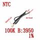 سنسور دمای دیجیتال NTC 10K Ohm نیم متر 3950